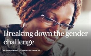 Breaking down the gender challenge McKinsey & Partners