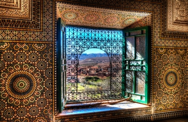 Window, Kasbah Telouet, Morocco