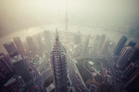 Air pollution in Shanghai, China