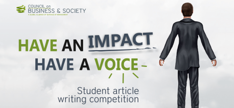Council on Business & Society student CSR article competition