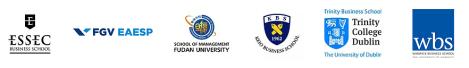 ESSEC, School of Management Fudan, FGV-EAESP, Keio Business School, Trinity College Dublin, Warwick Business School