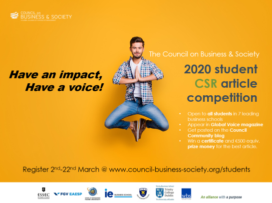 CoBS student CSR article competition 2020